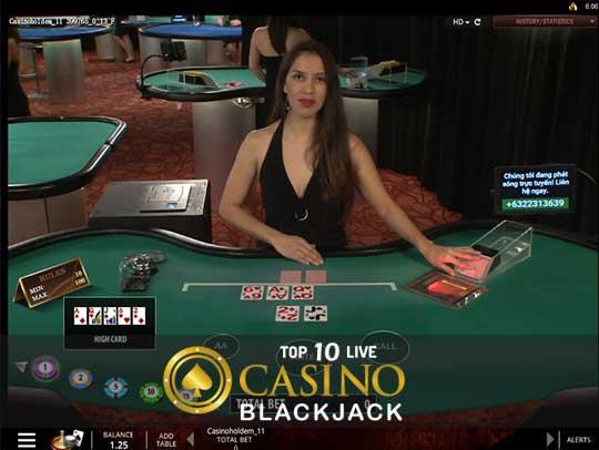 Top 10 Live Casino Sites